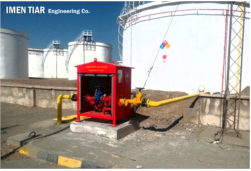 IMEN TIAREngineering Co. Dosing system setup for the first time at oil storage tanks of Shahid Dolati, Karaj.